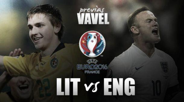 Lituania - Inglaterra: con confianza a la Eurocopa
