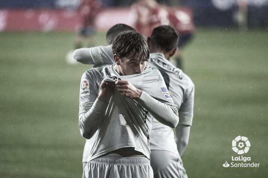 Juan Miranda y su primer gol en La Liga