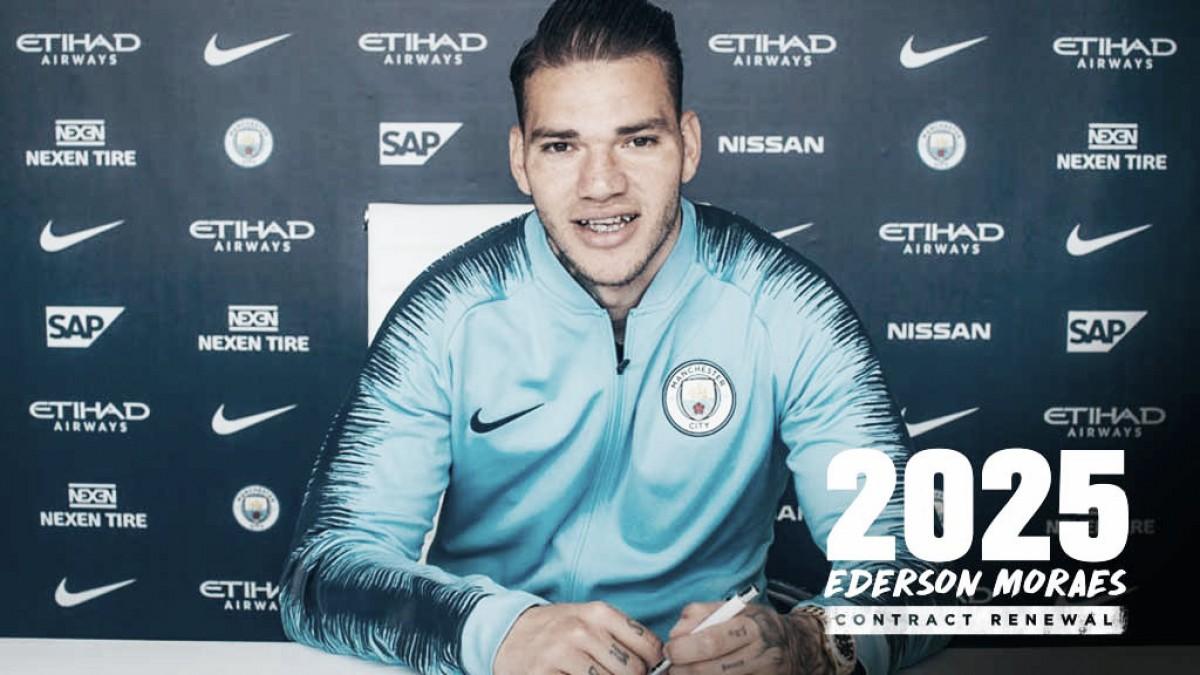 Ederson extiende su contrato con el Manchester City hasta 2025