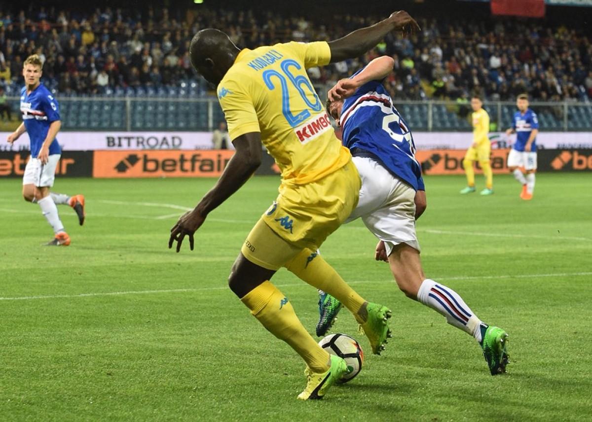 Il Napoli onora il campionato: Sampdoria battuta grazie ai goal di Milik e Raul Albiol