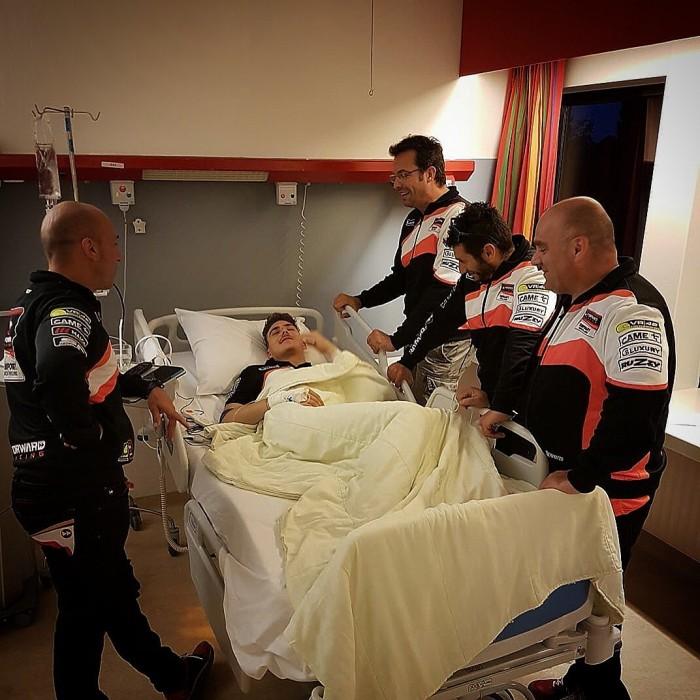 Moto2 - Baldassarri, operazione andata. In Germania, al suo posto, Fuligni