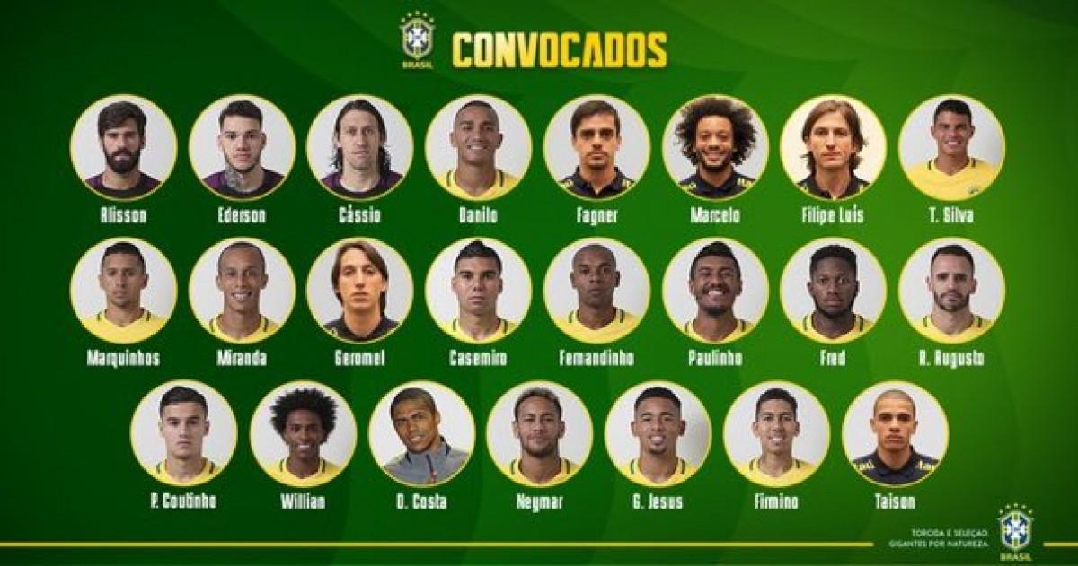 Russia 2018 - I convocati del Brasile: fuori Sandro, c'è Neymar
