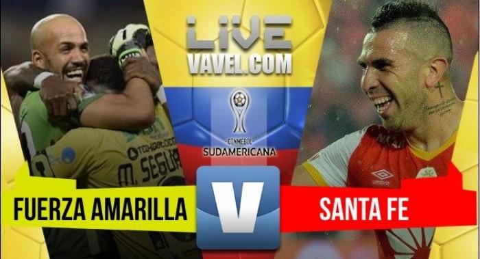 Fuerza Amarilla y Santa Fe no se sacaron ventajas en la ida (1-1)