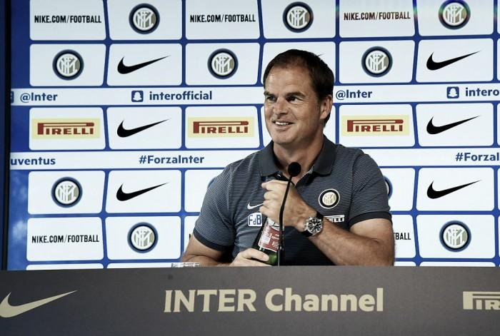 """Frank de Boer: """"Non penso all'esonero, voglio vincere domani, credo ancora in questo progetto"""""""