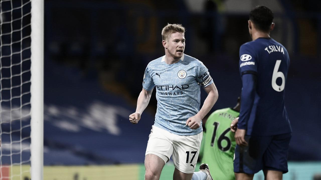Manchester City domina Chelsea em Stamford Bridge e aumenta pressão sobre Lampard
