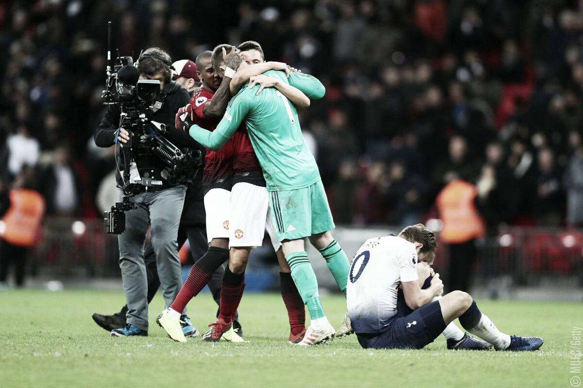 Em tarde mágica de De Gea, Manchester United vence Tottenham em Wembley