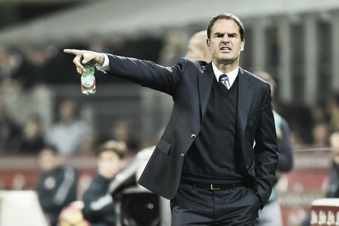 De Boer exalta 'firmeza' da Internazionale após quebrar sequência negativa