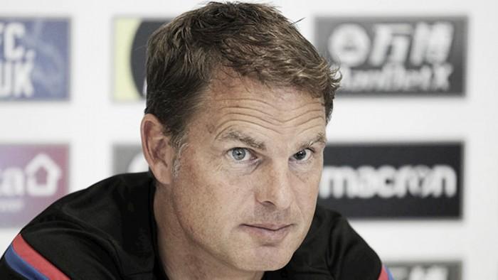 Frank de Boer: ''Vamos a jugar de diferentes maneras''