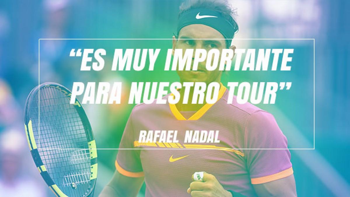 """Rafael Nadal: """"Murray es muy importante para nuestro Tour"""""""