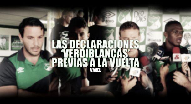 Declaraciones 'verdiblancas' en la antesala de la final de la Liga Águila