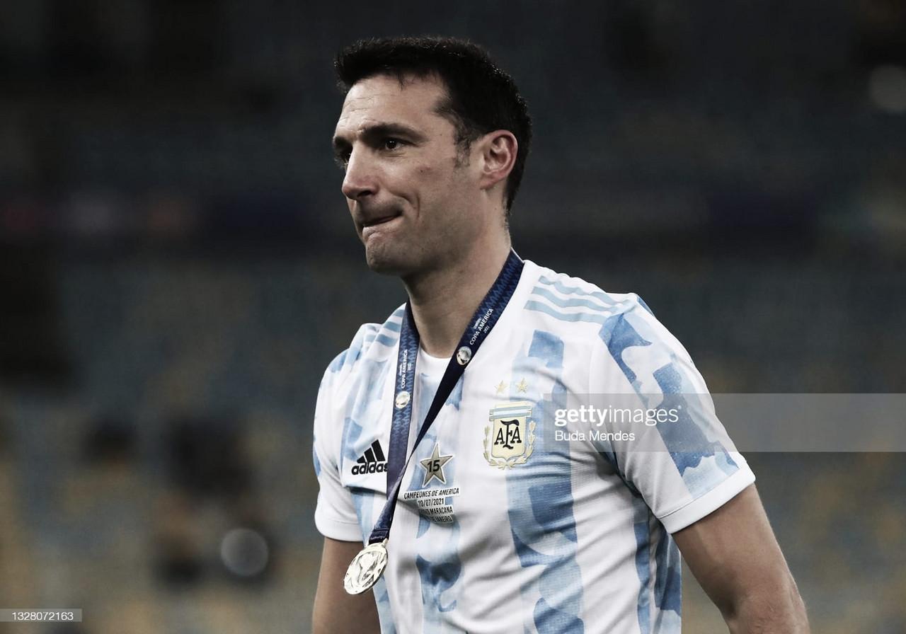 """Lionel Scaloni: """"Fue una Copa muy difícil, por suerte se nos pudo dar"""""""
