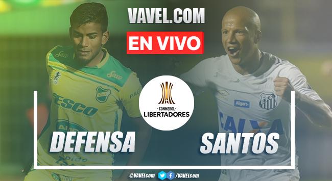 Goles y resumen: Defensa y Justicia 1-2 Santos en Copa Libertadores 2020
