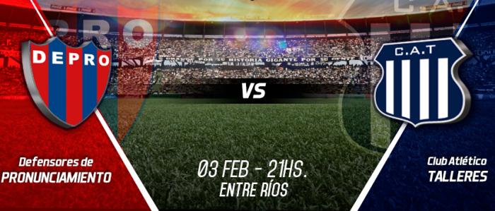 Defensores de Pronunciamiento 0-1 Talleres de Córdoba en Copa Argentina