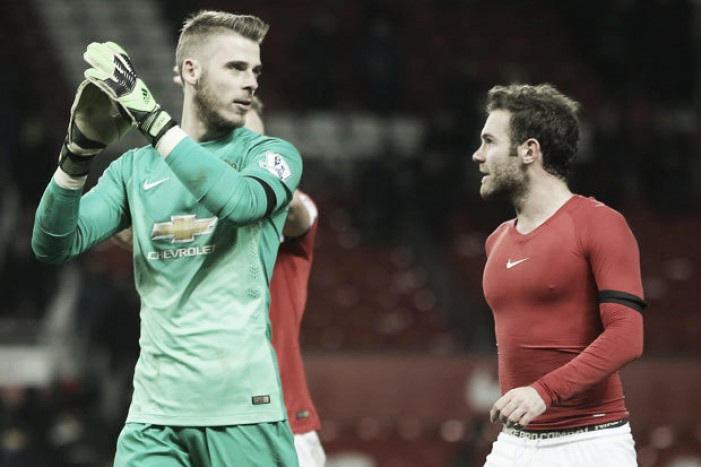 "Juan Mata confident that David de Gea is ""happy"" in Manchester"