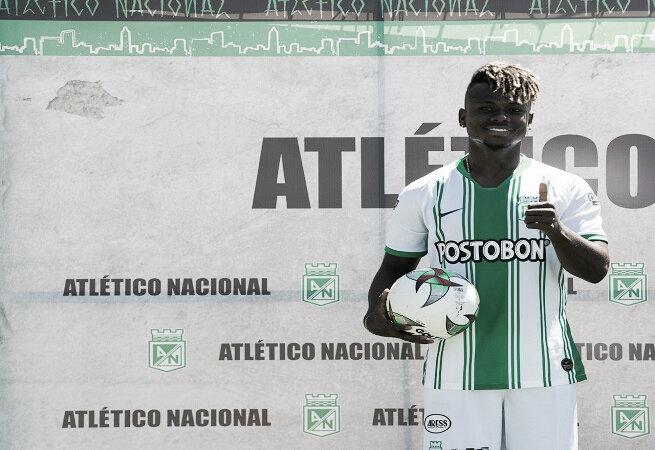 """Déinner Quiñones: """"Estoy muy contento de estar en Atlético Nacional"""""""