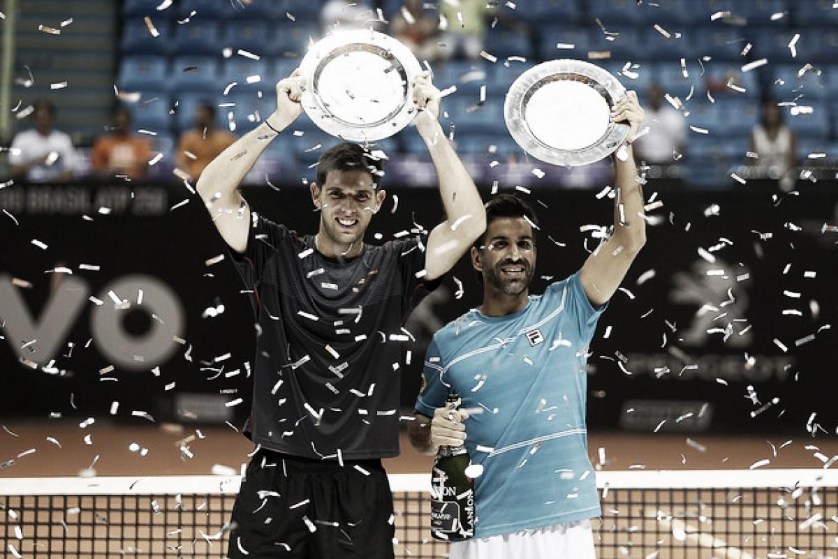 Algozes de André Sá, Delbonis e Gonzalez são campeões do Brasil Open