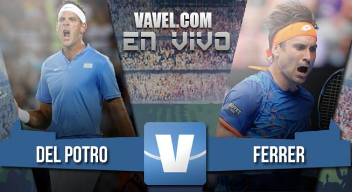 Resultado Juan Martín Del Potro vs David Ferrer (7-6; 6-3)