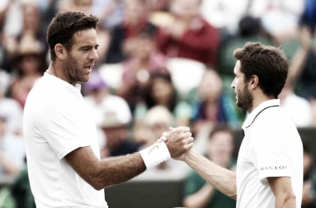 Del Potro supera Simon em duelo de dois dias e encara Nadal nas quartas de Wimbledon