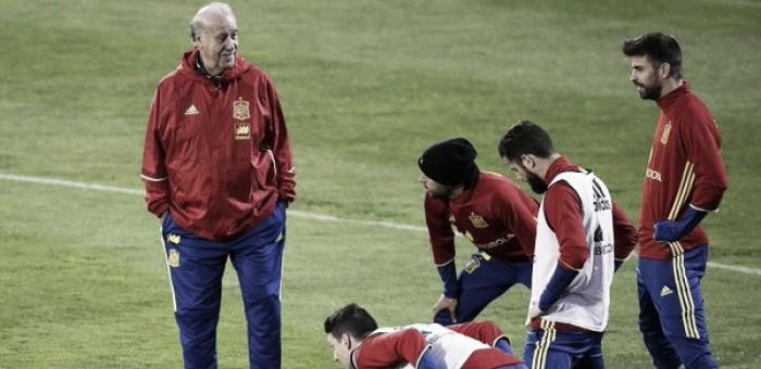 """Italia-Spagna, Del Bosque in conferenza: """"Verratti e Marchisio assenze pesanti per gli azzurri"""""""