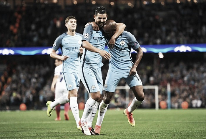 Manchester City (6) 1-0 (0) Steaua Bucharest: Delph bags winner in Hart's farewell appearance