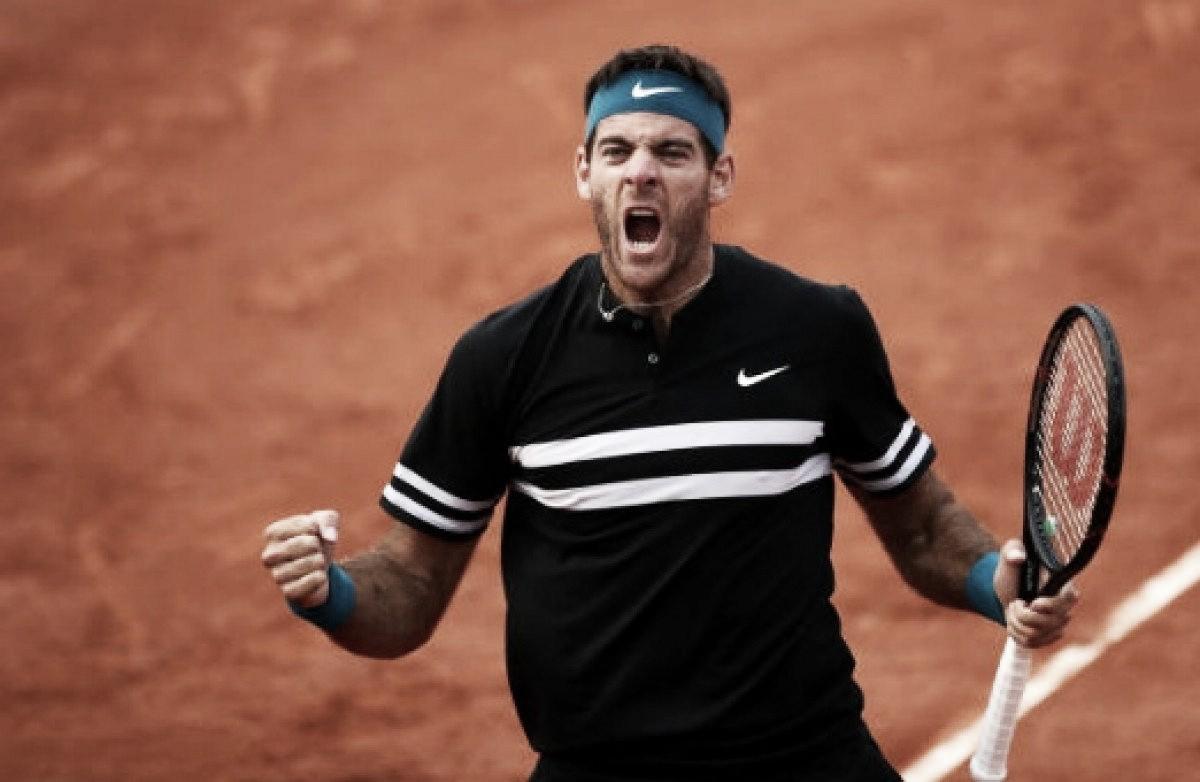 Del Potro supera Isner e enfrenta Cilic nas quartas de Roland Garros