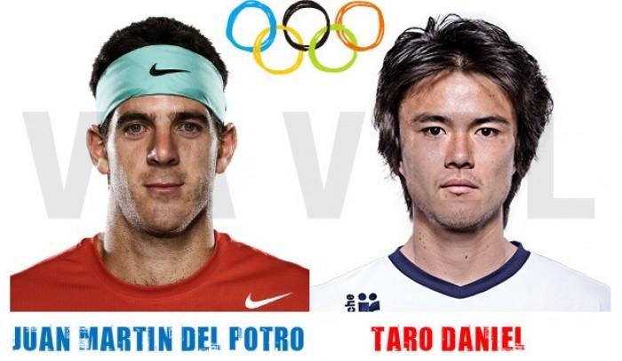 Resultado Del Potro vs Taro Daniel en Río 2016: 6-7 (4); 6-1; 6-2