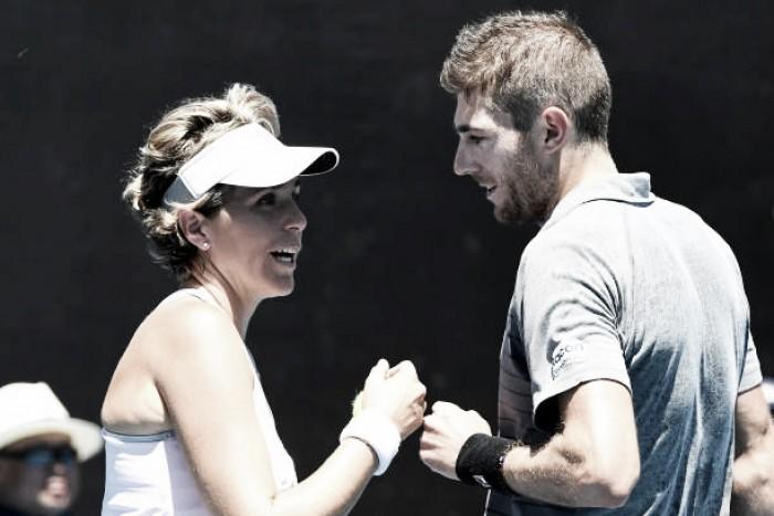 Soares e Demoliner são eliminados nas semifinais de duplas mistas do Australian Open