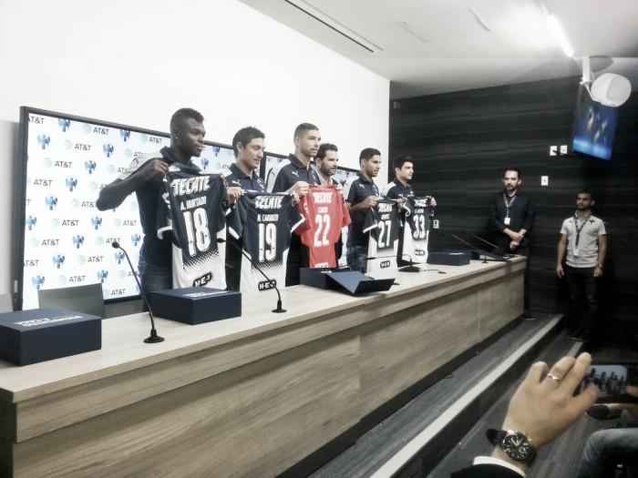 Rayados presentó a sus cinco nuevos futbolistas para el A2017