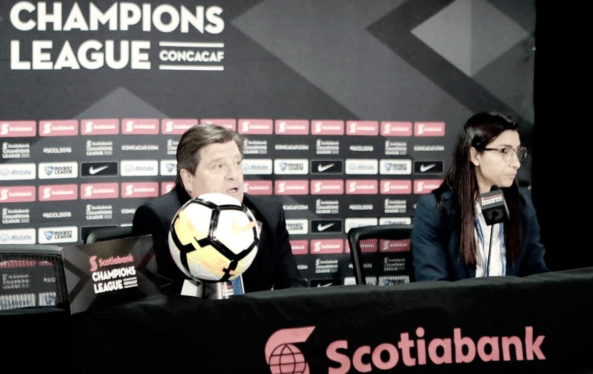 """Miguel Herrera: """"Llevamos buena ventaja, pero no se ha finiquitado la serie"""""""