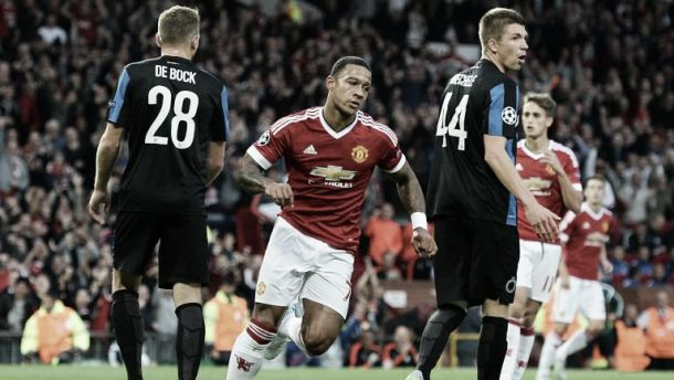 Manchester United vence, Depay dá 'show' e bisa diante do Club Brugge