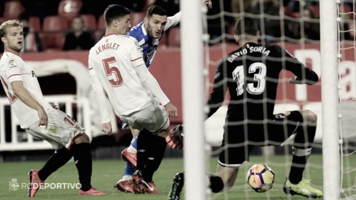 Sevilla FC - Deportivo de la Coruña: puntuaciones del Deportivo, jornada 14 de la Liga
