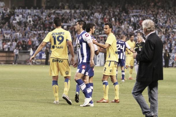 El Deportivo solo ha ganado dos veces en Primera División en Gran Canaria