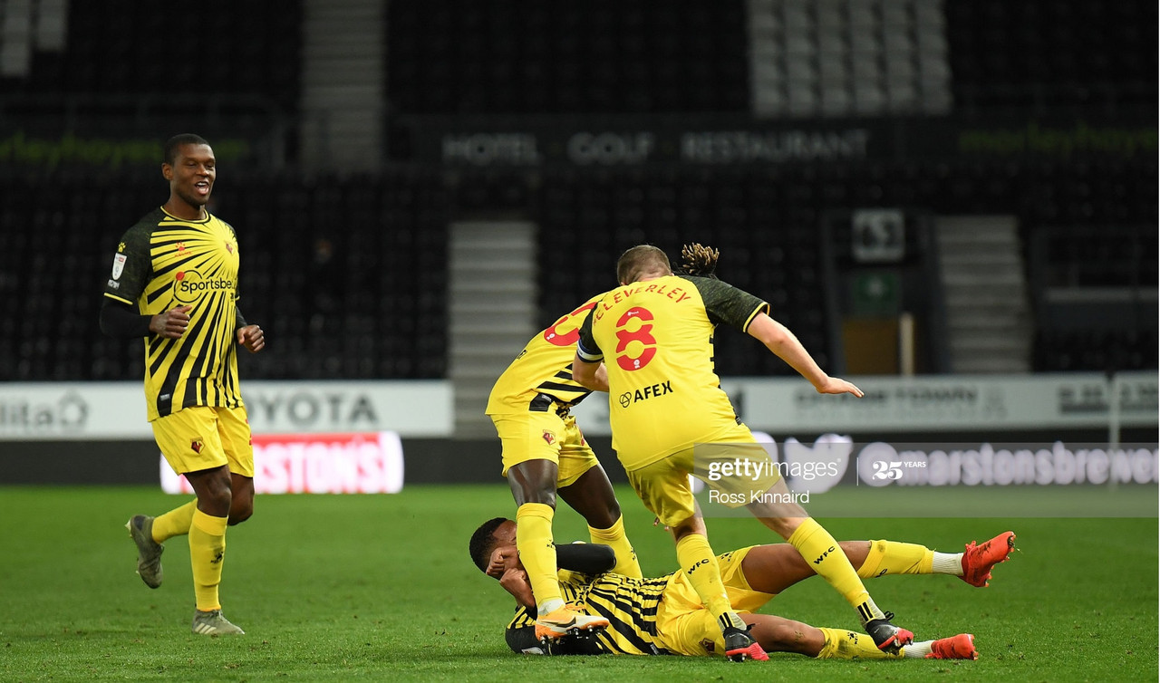Derby County 0-1 Watford: Late Pedro goal seals victory as the Hornets sting the Rams under the lights