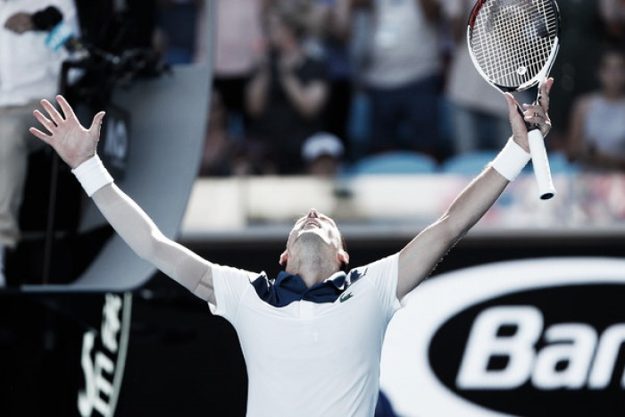 Australian Open: Novak Djokovic brushes Donald Young aside on his return