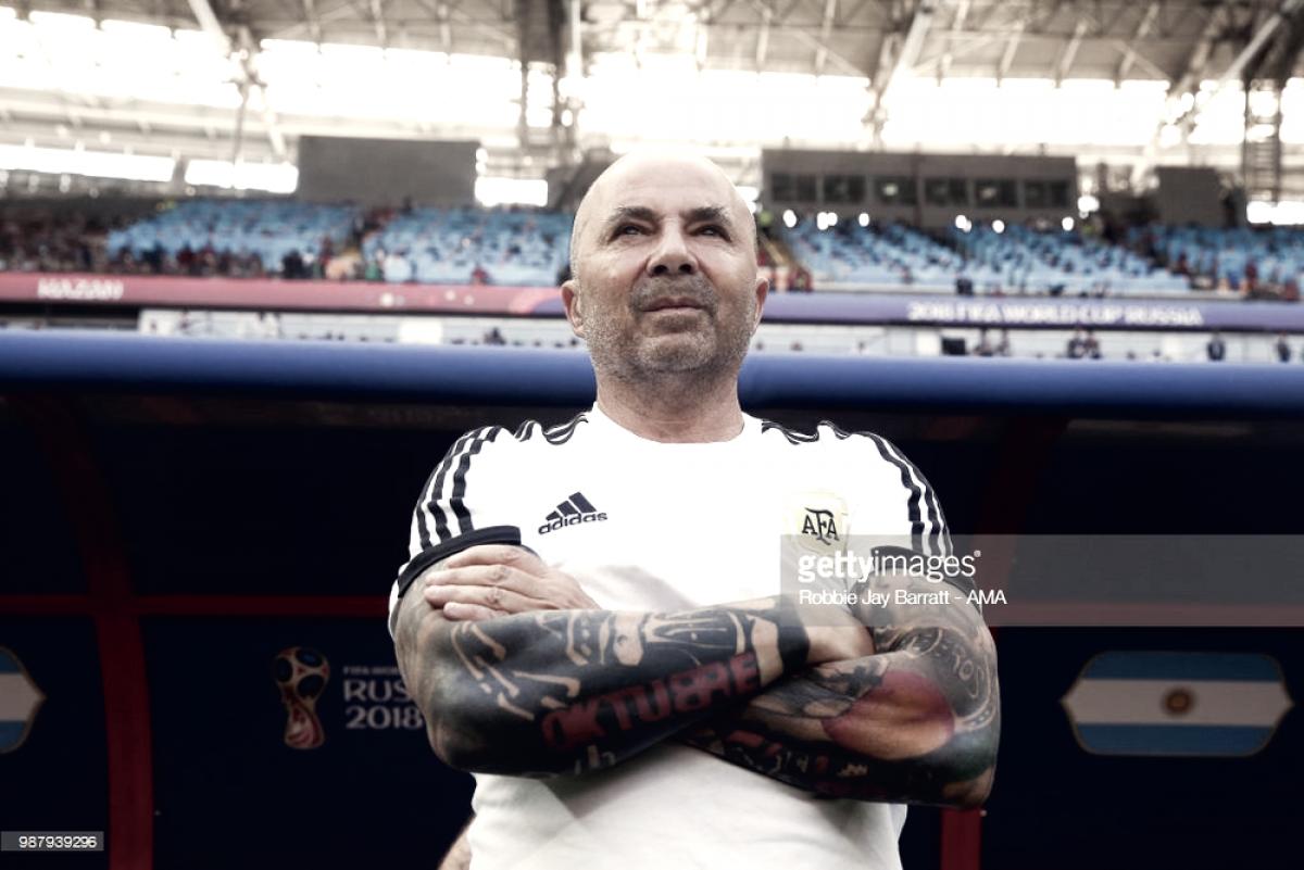 """Jorge Sampaoli: """"No evalúo renunciar a la Selección"""""""