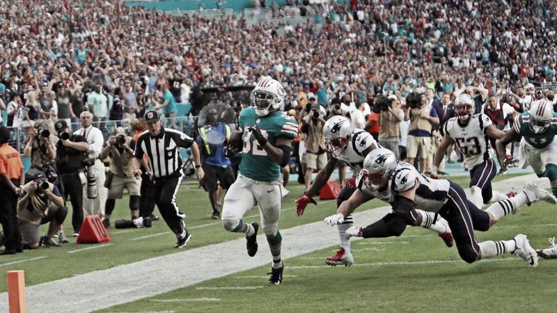 Miami gana y complica la vida a los Patriots con un final apoteósico