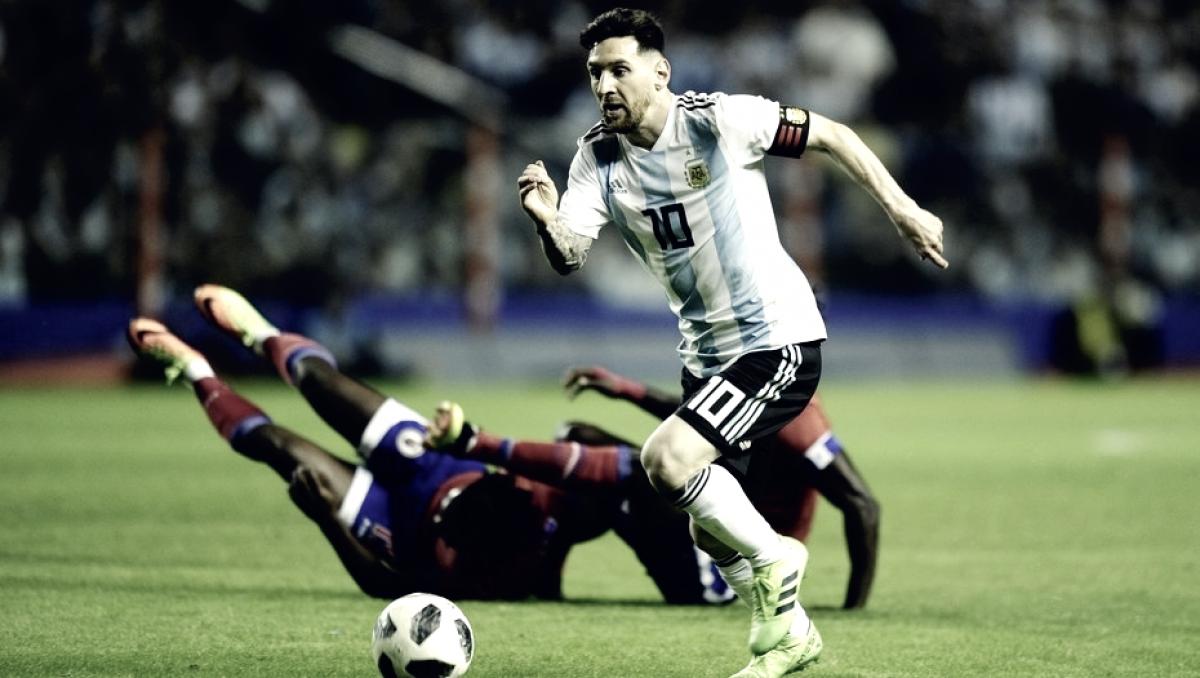 Otro triplete de Messi