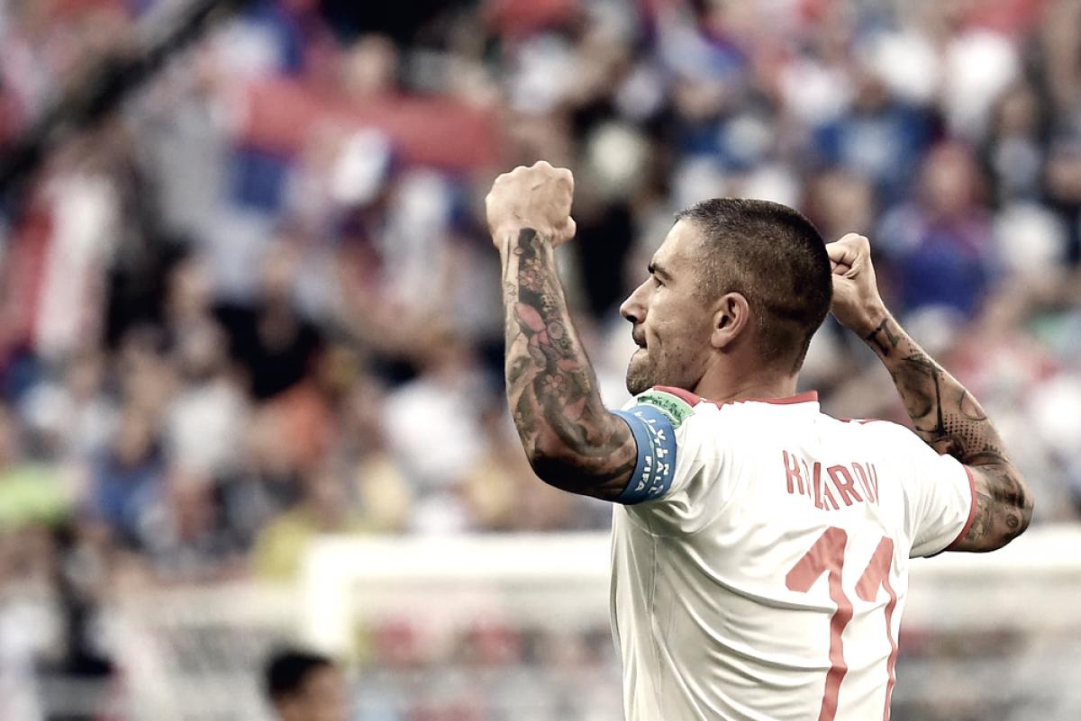 Con un golazo de tiro libre de Aleksandar Kolarov, Serbia le ganó 1-0 a Costa Rica