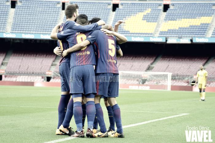El FC Barcelona, centrado en el partido ante el Atlético