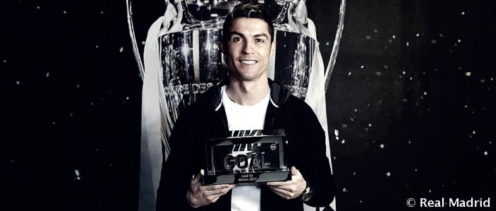 Cristiano Ronaldo consigue el Premio Goal 50