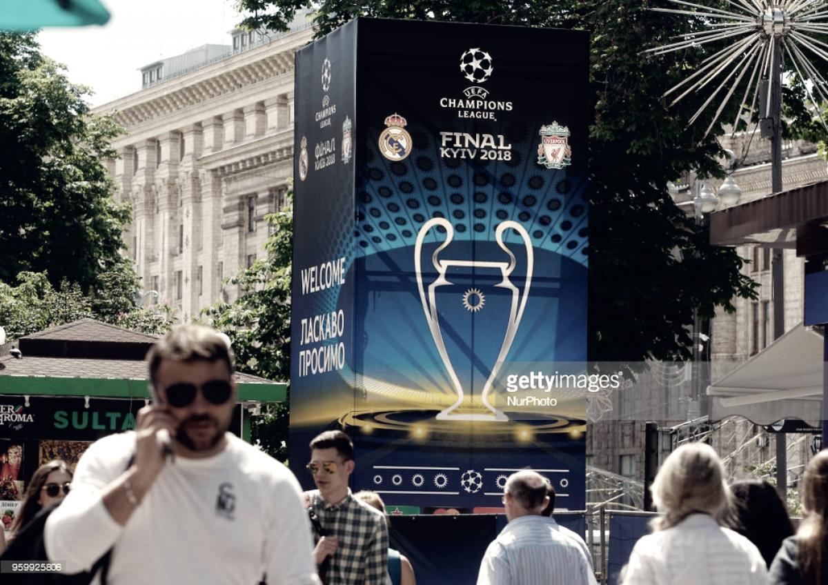 La mesa lista en Kiev para Real Madrid y Liverpool