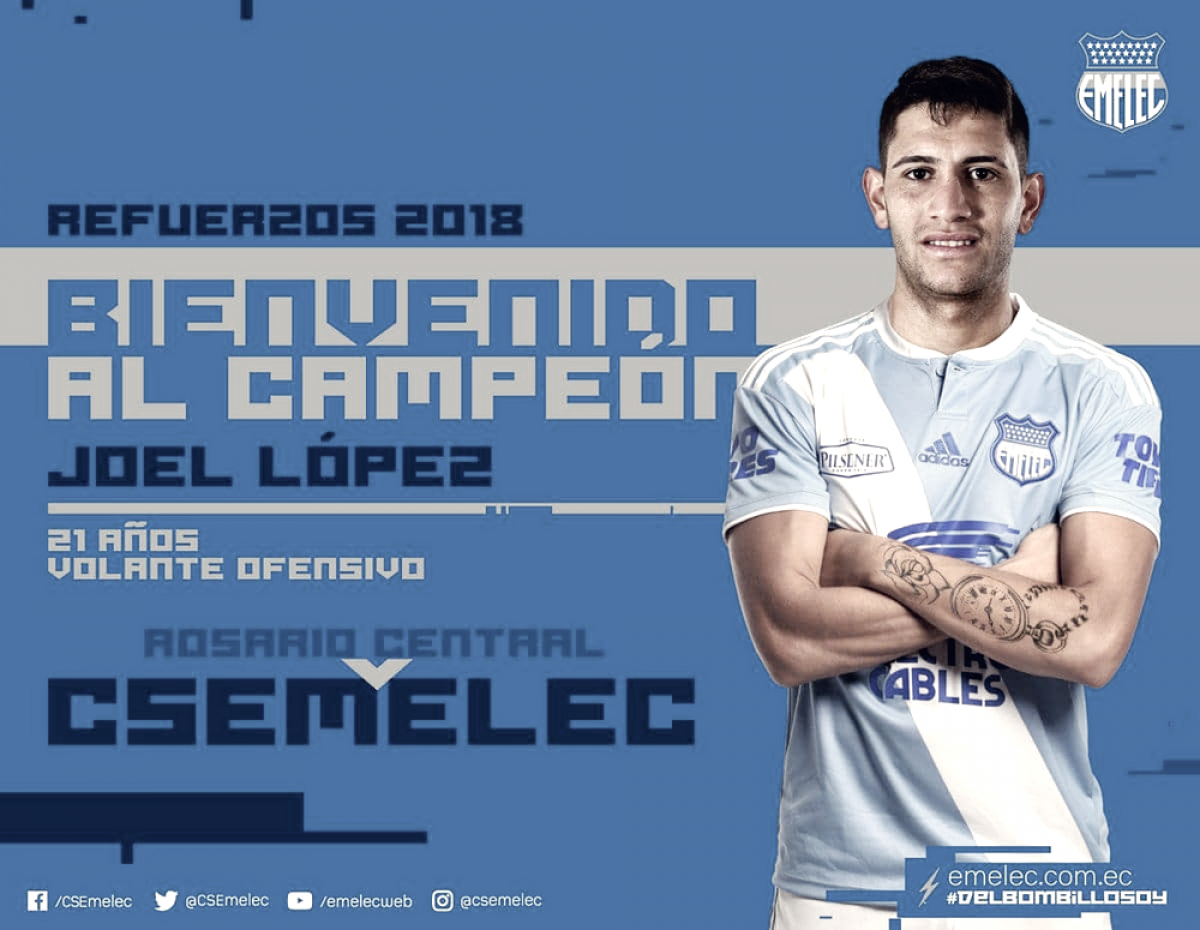 Emelec hace oficial la contratación de Joel López Pissano