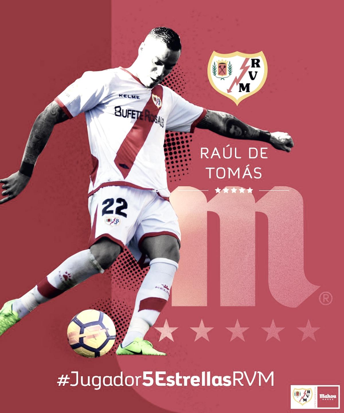 """Raúl de Tomás: """"Mi objetivo no es ser pichichi sino que el Rayo Vallecano suba a Primera División"""""""