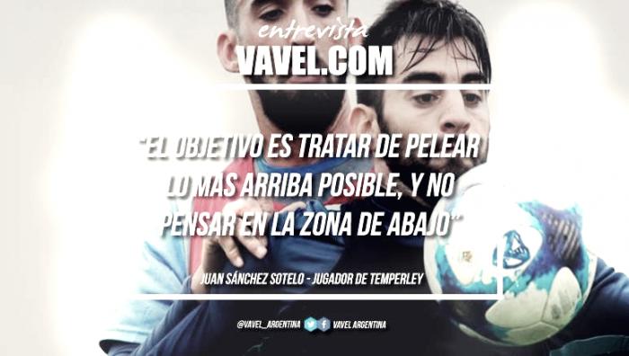 """Juan Sánchez Sotelo: """"El objetivo es tratar de pelear lo más arriba posible, y no pensar en la zona de abajo"""""""