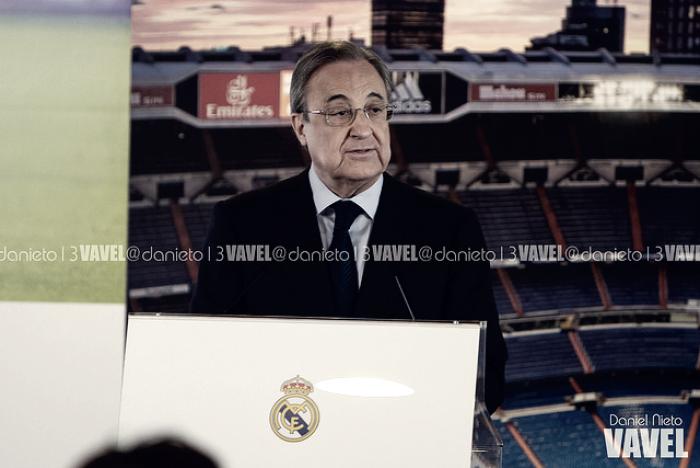 "Florentino Pérez: ""Con este escudo y esta camiseta no nos rendimos nunca"""