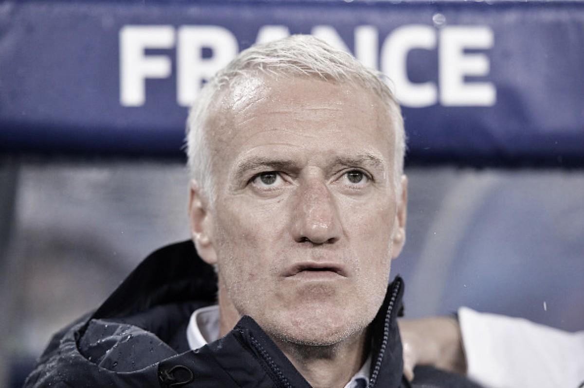 """Deschamps elogia Giroud e atuação da França contra Irlanda: """"Tivemos controle do jogo"""""""