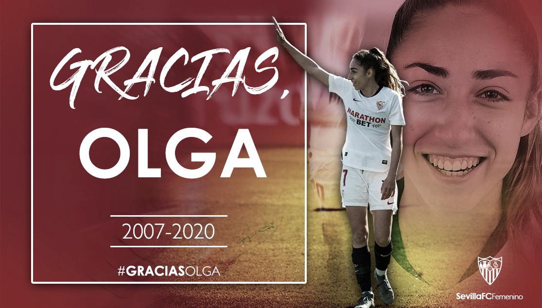 Olga Carmona: emotiva despedida del Sevilla FC Femenino