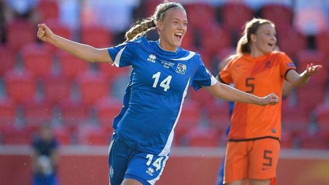 Islândia vence a Holanda e avança de fase na Euro feminina pela primeira vez