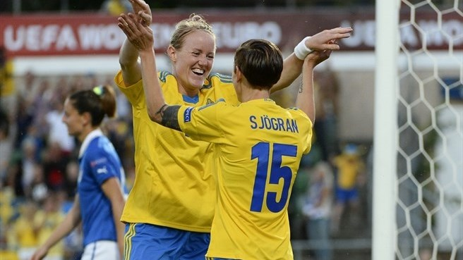 Itália perde para a Suécia, mas ambas se classificam para a próxima fase da Euro feminina