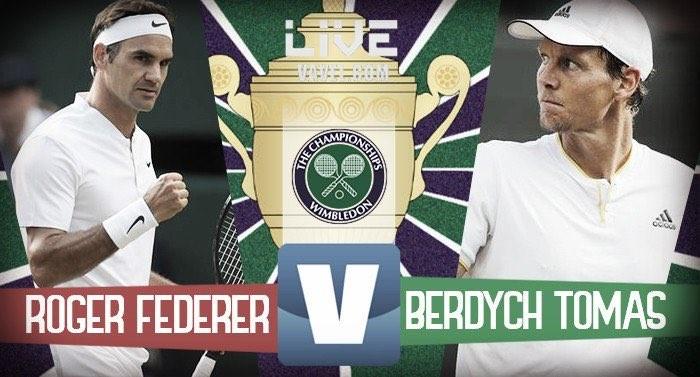 Resultado Roger Federer x Tomas Berdych pela semifinal de Wimbledon (3-0)